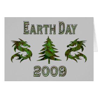 Dragones 2009 del Día de la Tierra Tarjeta De Felicitación