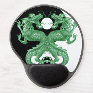 Dragones 4 de Yin Yang Alfombrilla De Ratón Con Gel