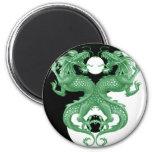 Dragones 4 de Yin Yang Imán De Frigorifico