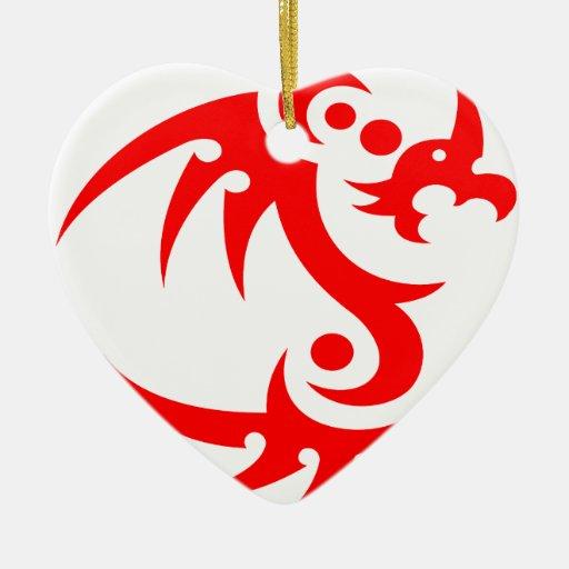 dragones adorno de navidad