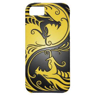 Dragones, amarillo y negro de Yin Yang iPhone 5 Protector