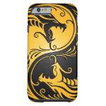 Dragones amarillos y negros de Yin Yang Funda De iPhone 6 Tough
