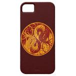 Dragones amarillos y rojos de Yin que vuelan Yang iPhone 5 Case-Mate Protectores