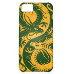 Dragones amarillos y verdes del chino de Yin Yang