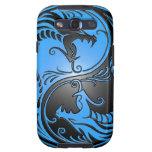 Dragones, azul y negro de Yin Yang Galaxy SIII Carcasas