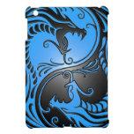 Dragones, azul y negro de Yin Yang iPad Mini Cárcasas