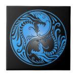 Dragones, azul y negro de Yin Yang Teja Ceramica