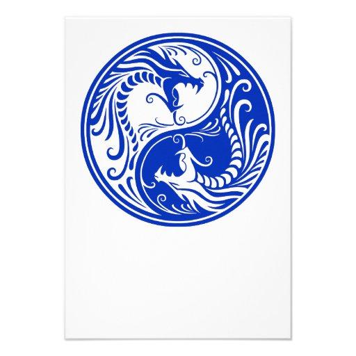 Dragones azules de Yin Yang Comunicados Personales