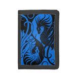 Dragones azules y negros de Yin que vuelan Yang