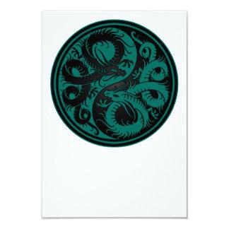 Dragones azules y negros del trullo de Yin Yang Anuncio Personalizado