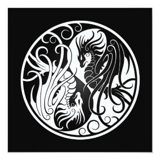 Dragones blancos y negros de Yin que vuelan Yang Comunicados
