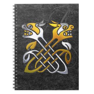 Dragones célticos libros de apuntes con espiral