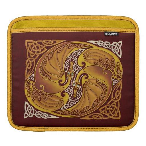Dragones célticos ornamentales mangas de iPad