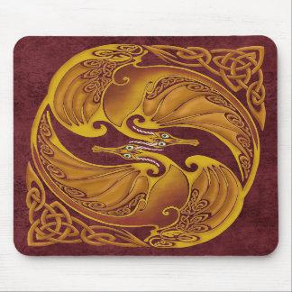 Dragones célticos ornamentales alfombrillas de ratones