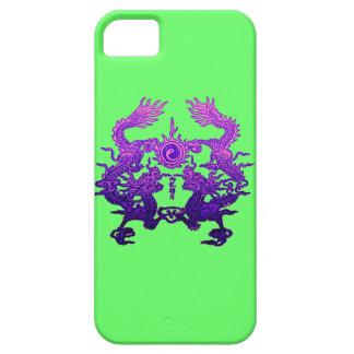 Dragones CHINOS de la púrpura del AÑO NUEVO iPhone 5 Case-Mate Carcasa