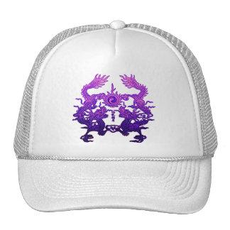 Dragones CHINOS de la púrpura del AÑO NUEVO Gorras De Camionero