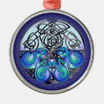 Dragones chinos del arte céltico azules y negros ornamentos para reyes magos