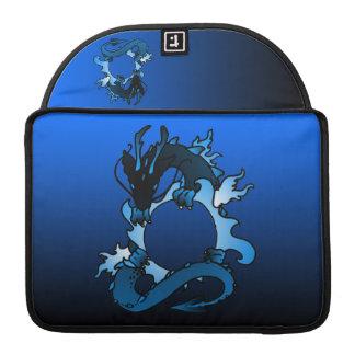 """Dragones """"clase"""" del negro y del azul fundas macbook pro"""