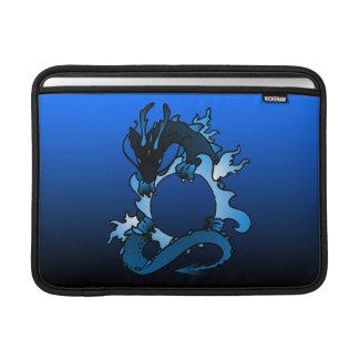 """Dragones """"clase"""" del negro y del azul fundas para macbook air"""