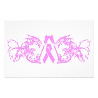 Dragones curativos, cáncer de pecho personalized stationery