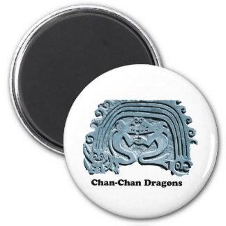 Dragones de Chan Chan Imán Redondo 5 Cm
