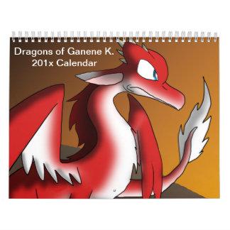 Dragones de Ganene K. Calendar 1 Calendario