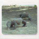 Dragones de Komodo Alfombrilla De Ratones