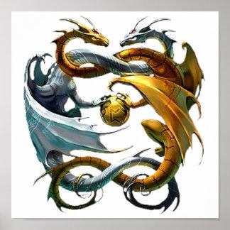 Dragones de la batalla póster