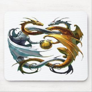 Dragones de la batalla tapete de ratón