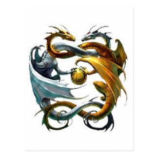 Dragones de la batalla tarjeta postal