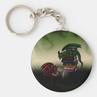 Dragones de la biblioteca llaveros personalizados