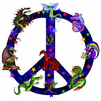 Dragones de la paz fotoescultura vertical