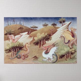 Dragones de ms Fr 2810 f.55v y otras bestias Impresiones