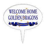 Dragones de oro caseros agradables decoraciones para tartas