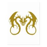 Dragones de oro del amor postal