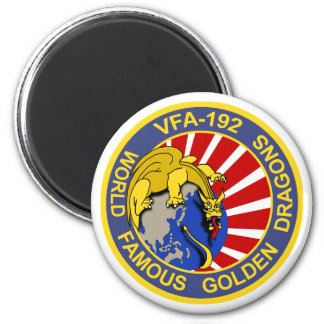 Dragones de oro VFA-192 Imán Redondo 5 Cm