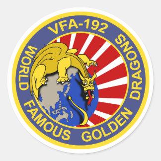 Dragones de oro VFA-192 Pegatina Redonda