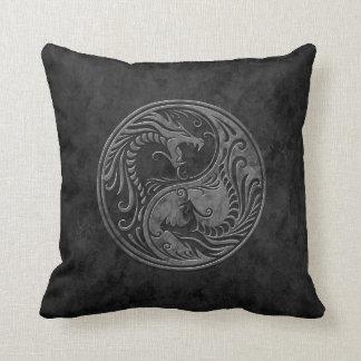 Dragones de piedra de Yin Yang Cojin
