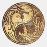 Dragones de piedra de Yin Yang Etiquetas