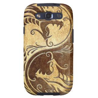 Dragones de piedra de Yin Yang Samsung Galaxy SIII Funda
