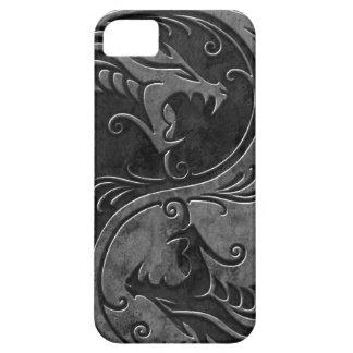 Dragones de piedra de Yin Yang iPhone 5 Case-Mate Protectores