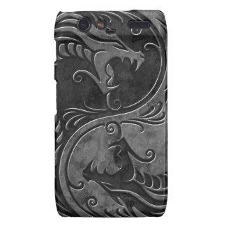 Dragones de piedra de Yin Yang Motorola Droid RAZR Carcasa