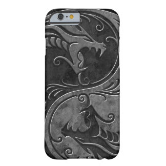 Dragones de piedra de Yin Yang Funda De iPhone 6 Slim