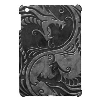 Dragones de piedra de Yin Yang iPad Mini Protectores