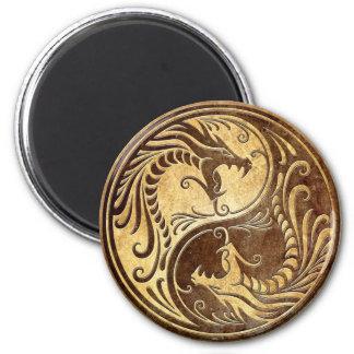 Dragones de piedra de Yin Yang Imanes Para Frigoríficos
