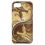 Dragones de piedra de Yin Yang iPhone 5 Cárcasas