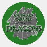 Dragones de Southlake Carroll - Southlake, TX Pegatina Redonda