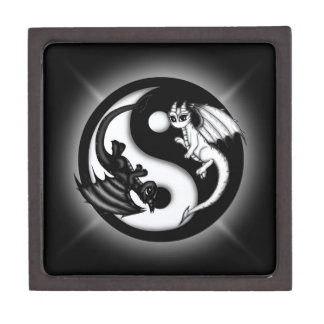 Dragones de Yin Yang Cajas De Regalo De Calidad