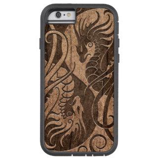 Dragones de Yin Yang del vuelo con el efecto de Funda De iPhone 6 Tough Xtreme