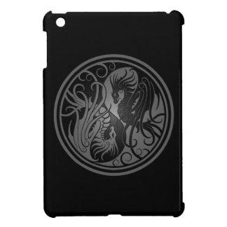 Dragones de Yin Yang del vuelo - oscuridad iPad Mini Funda